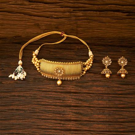 15337 Antique Choker Necklace with gold plating