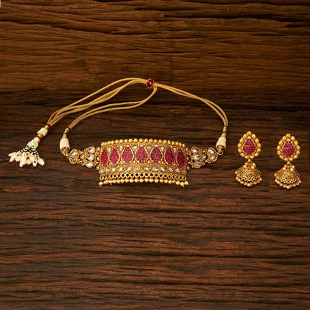 15338 Antique Choker Necklace with gold plating