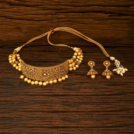 15339 Antique Choker Necklace with gold plating