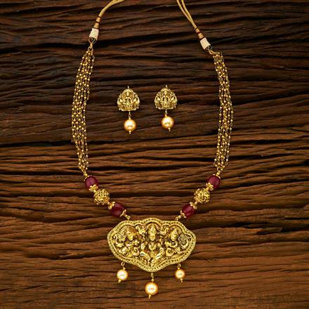 15354 Antique Temple Pendant Set with gold plating