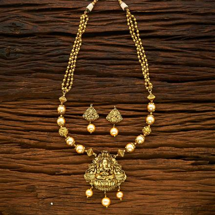 15355 Antique Temple Pendant Set with gold plating