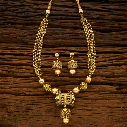 15357 Antique Mala Pendant Set with gold plating