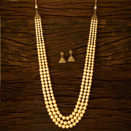 15358 Antique Long Necklace with gold plating