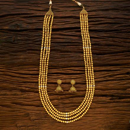 15359 Antique Long Necklace with gold plating
