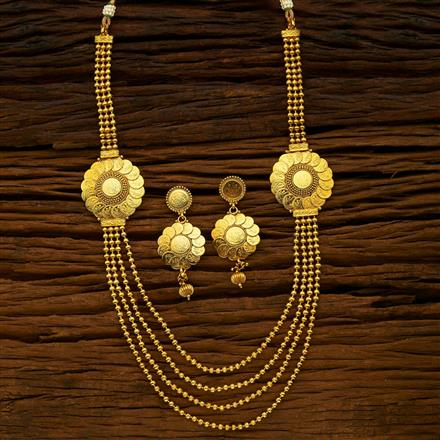 15417 Antique Long Necklace with gold plating