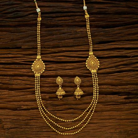 15418 Antique Long Necklace with gold plating