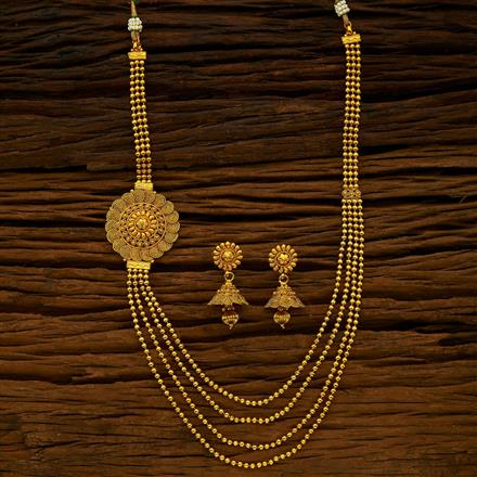 15419 Antique Long Necklace with gold plating