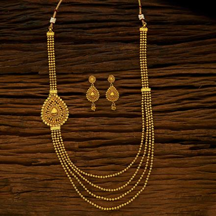 15420 Antique Side Pendant Necklace with gold plating
