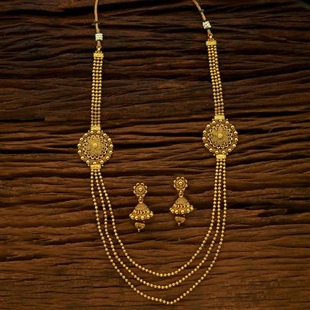 15423 Antique Long Necklace with gold plating