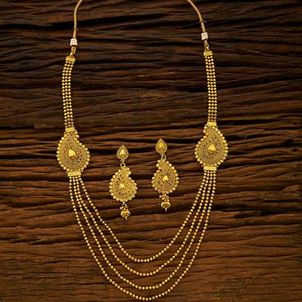15424 Antique Long Necklace with gold plating