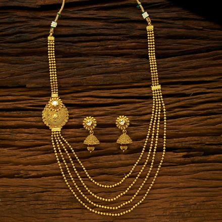 15425 Antique Long Necklace with gold plating