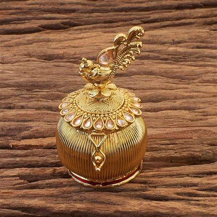 16867 Antique Classic Sindoor Box with gold plating