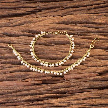 16969 Antique Plain Gold Ear Chain