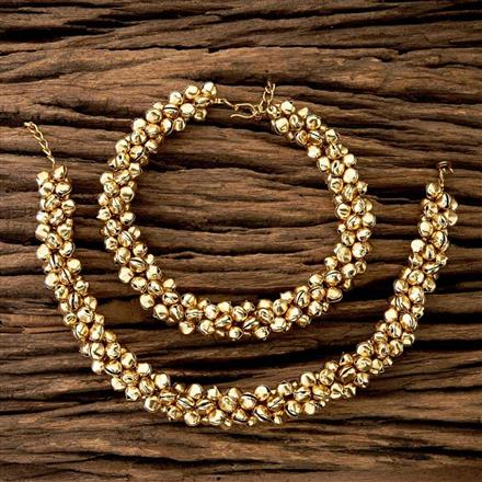 17048 Antique Ghungru Payal with gold plating
