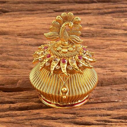 17544 Antique Classic Sindoor Box with gold plating