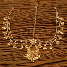 17977 Antique Chand Damini with gold plating