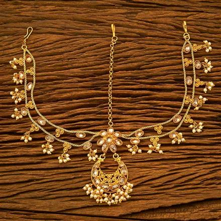 17978 Antique Chand Damini with gold plating