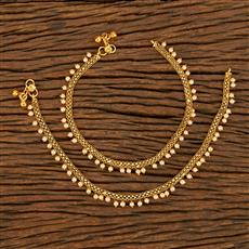 18090 Antique Classic Payal With Gold Plating