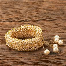 18555 Antique Adjustable Bracelet with gold plating