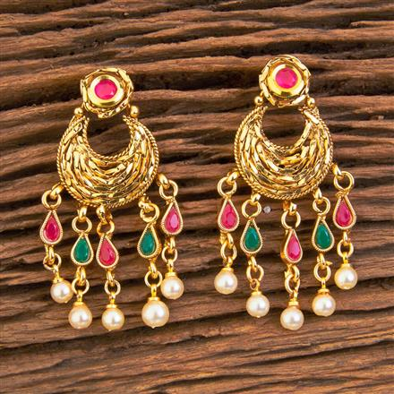 18644 Antique Chand Earring with gold plating