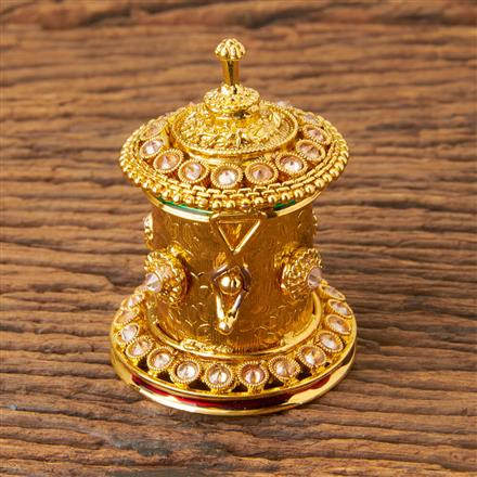 18926 Antique Classic Sindoor Box with gold plating