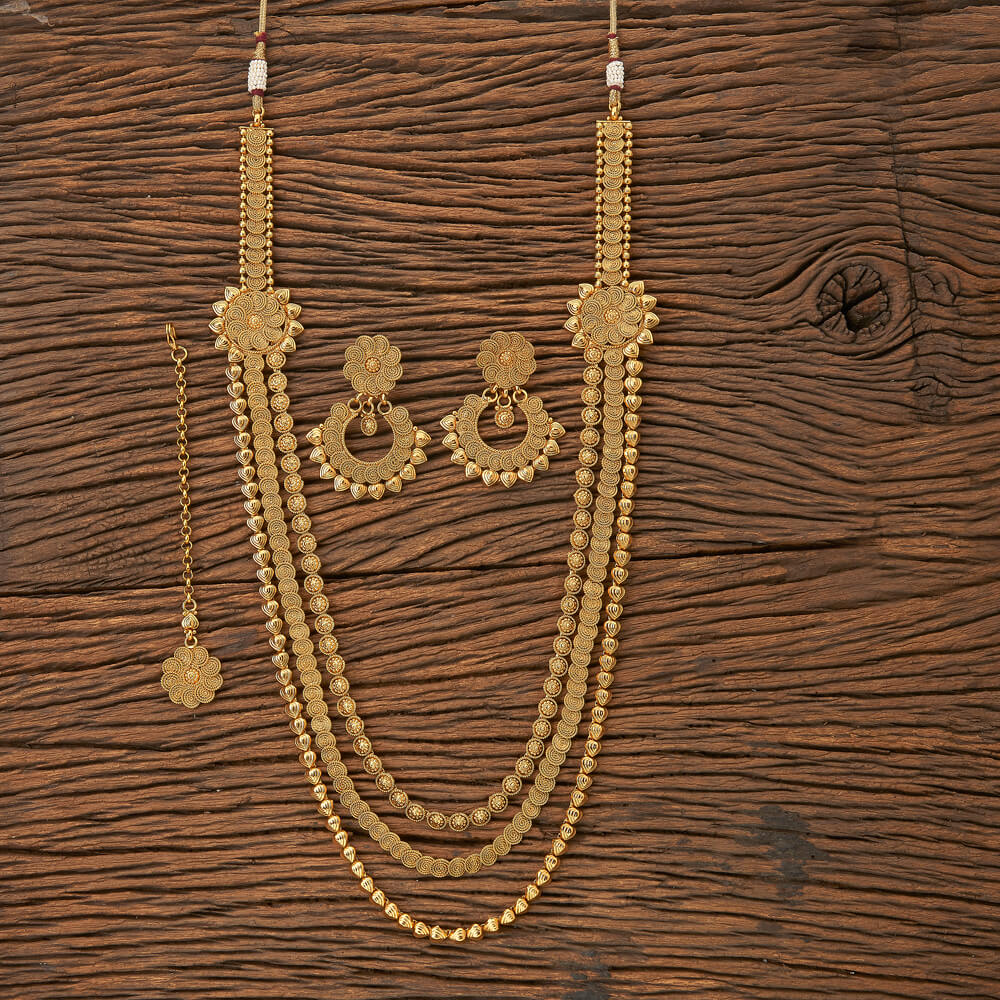 Buy 19108 antique side pendant necklace with gold plating online at 19108 antique side pendant necklace with gold plating mozeypictures Images