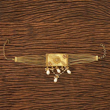 19855  Antique Classic Baju Band with gold plating