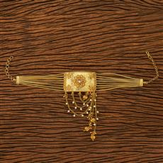 19856  Antique Classic Baju Band with gold plating