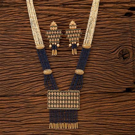 200044 Antique Mala Pendant set with gold plating