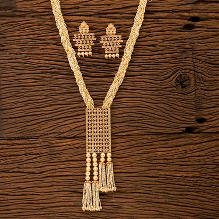 200045 Antique Mala Pendant set with gold plating