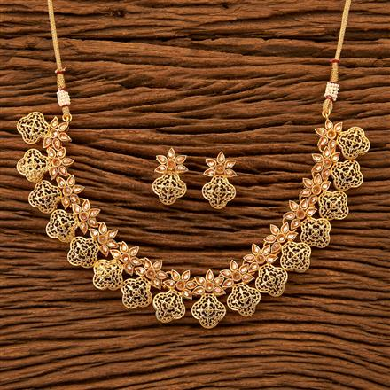 200292 Antique Delicate Necklace with gold plating