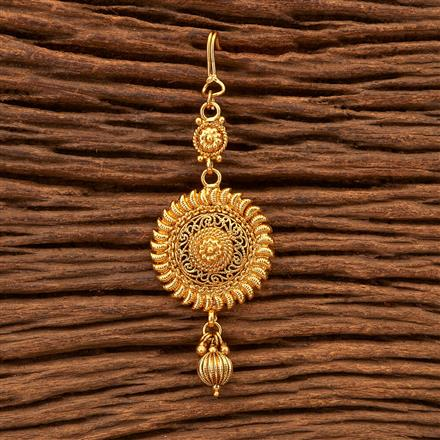 200326 Antique Plain Tikka with gold plating