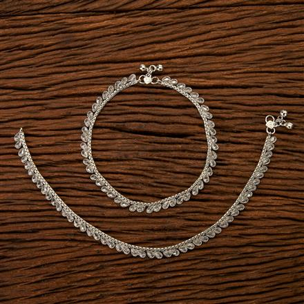 200333 Antique Delicate Payal with Rhodium plating