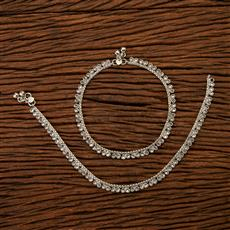 200335 Antique Delicate Payal with Rhodium plating