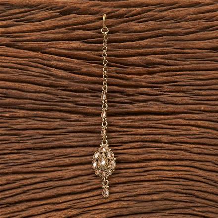 200341 Antique Delicate Tikka with Mehndi plating