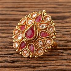 200354 Antique Classic Ring with gold plating