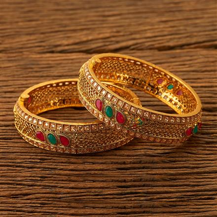 200467 Antique Openable Bangles with gold plating