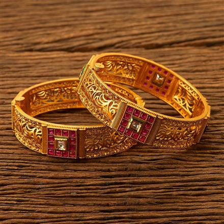 200468 Antique Openable Bangles with gold plating