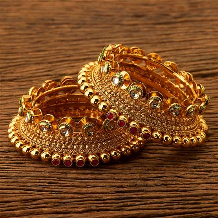 200472 Antique Openable Bangles with gold plating