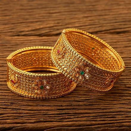 200473 Antique Openable Bangles with gold plating