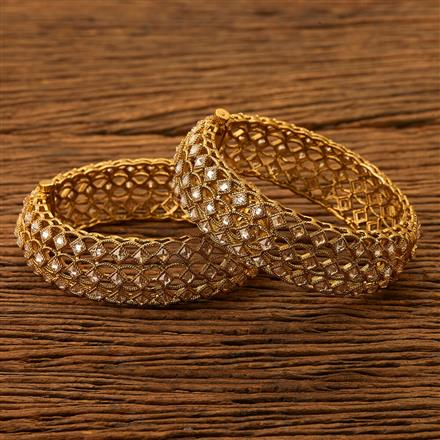 200475 Antique Openable Bangles with Mehndi plating
