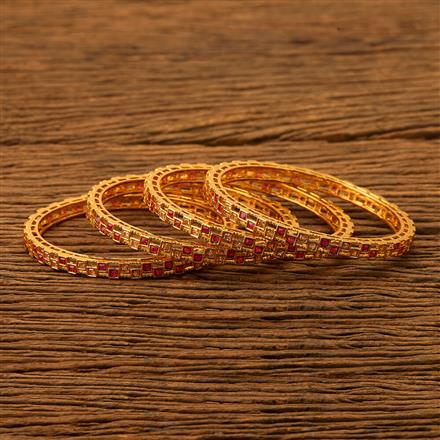 200492 Antique Classic Bangles with gold plating