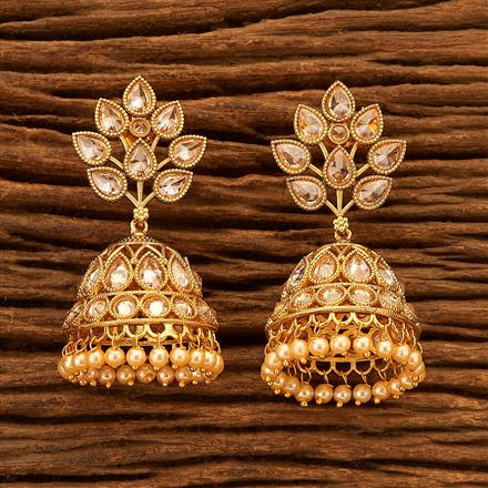 200496 Antique Jhumkis with gold plating