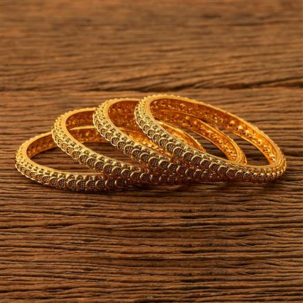 200499 Antique Plain Bangles with gold plating