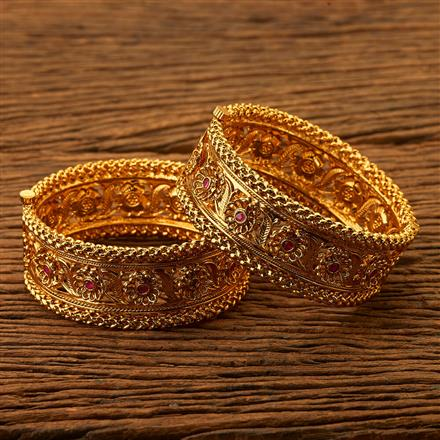 200500 Antique Openable Bangles with gold plating