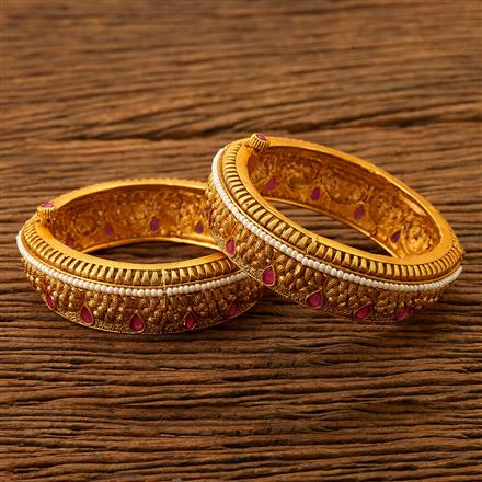 200503 Antique Openable Bangles with matte gold plating