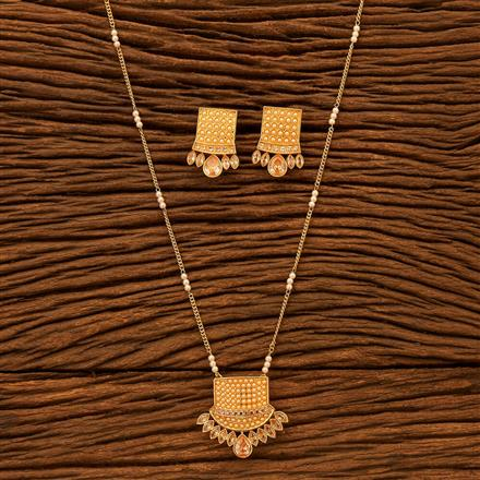 200508 Antique Delicate Pendant set with gold plating