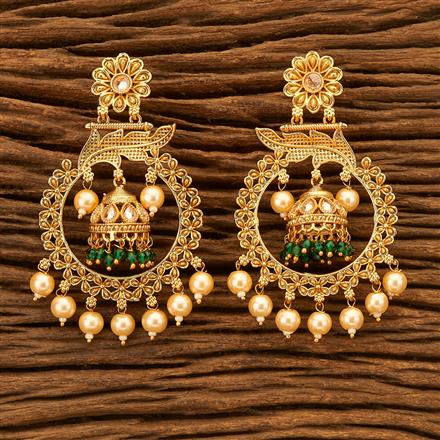 200515 Antique Jhumkis with gold plating