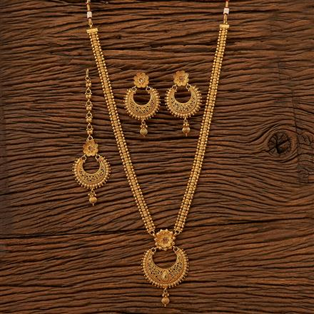 200687 Antique Long Necklace with gold plating