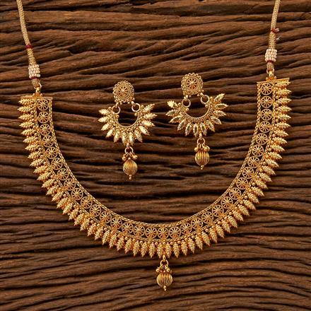 200691 Antique Delicate Necklace with gold plating